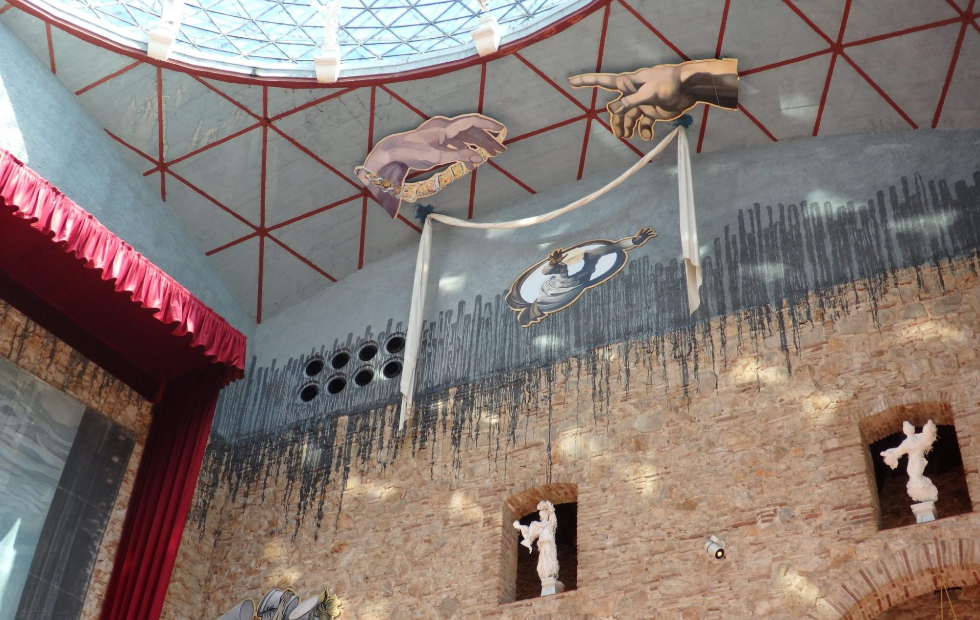 a detail of the ceiling of the Dali Theater Museum in Figueres, Spain