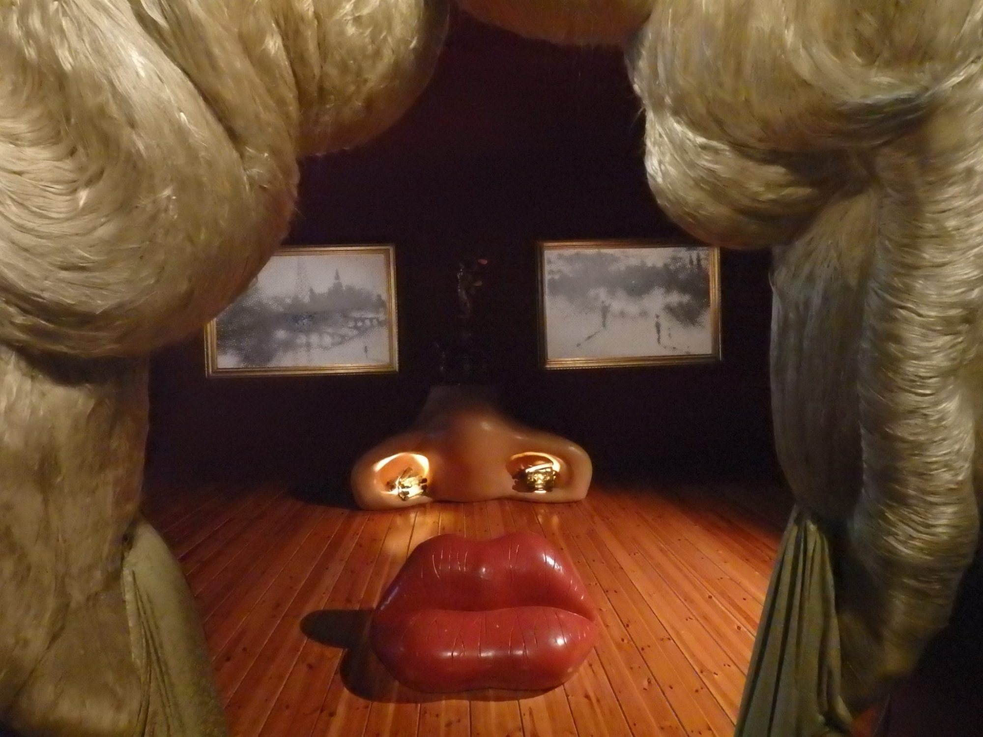 Dali version of Mae West, in the Dali Theatre-Museum in Figueres, Spain