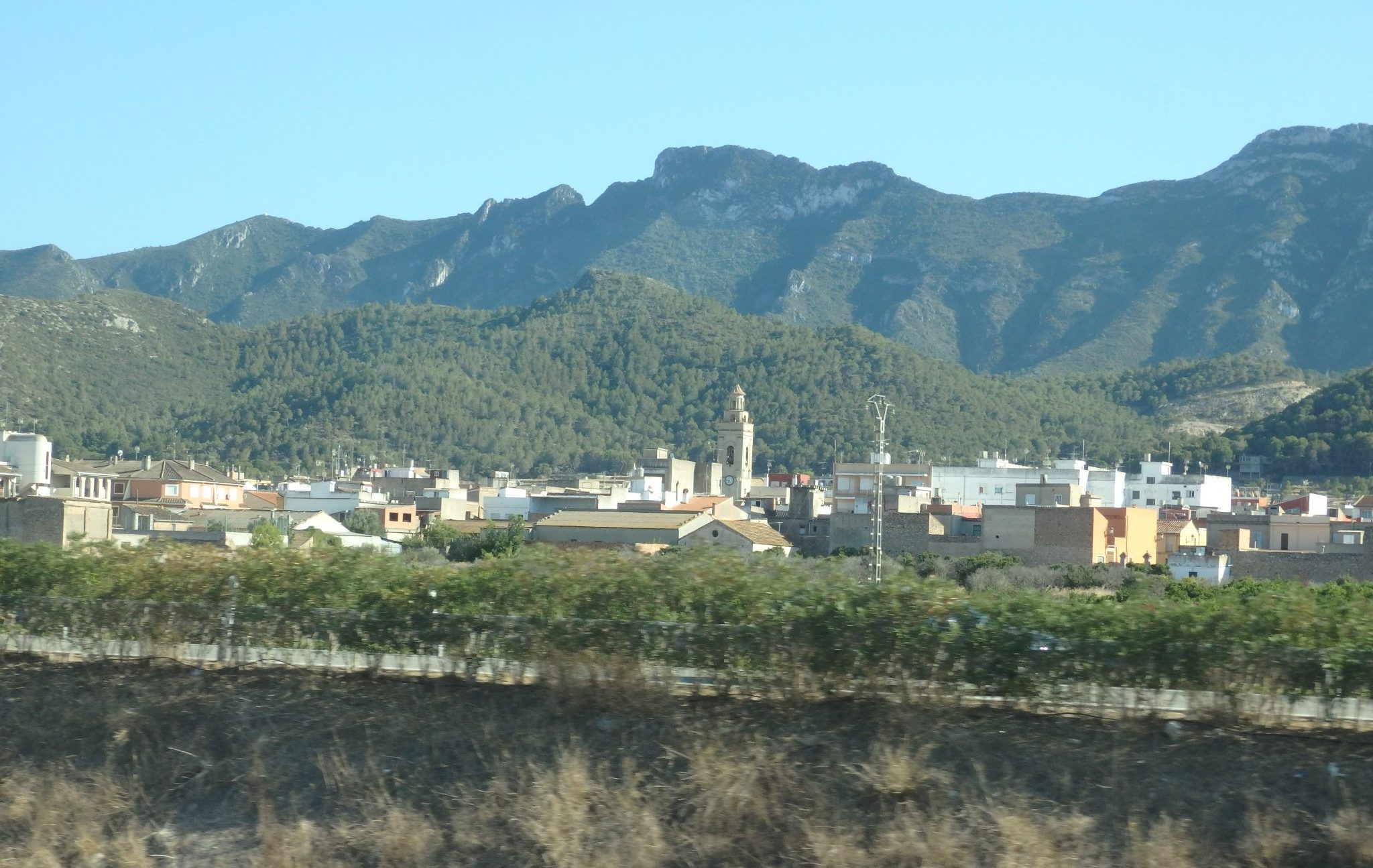 one of many villages you can spot from the highway in Baix Emporda