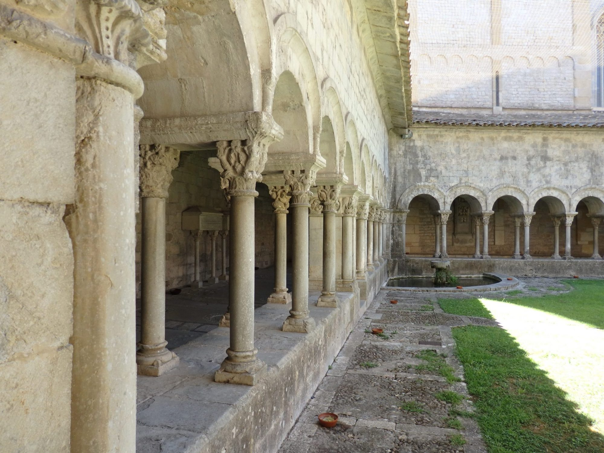 the cloister inside Girona Cathedral