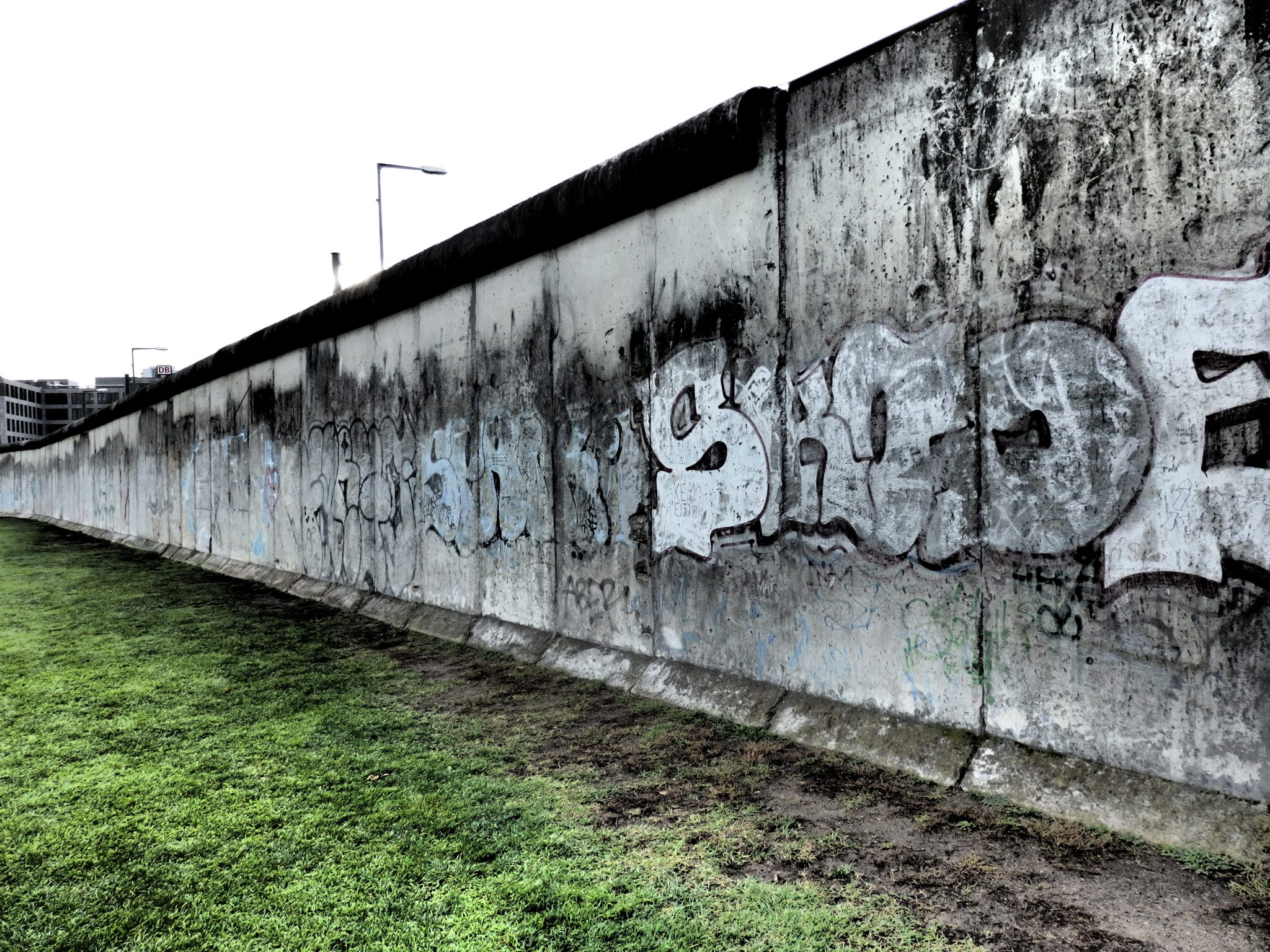 a piece of the outer Berlin wall. The graffiti must be from after the wall fell because it's the side facing the death strip.