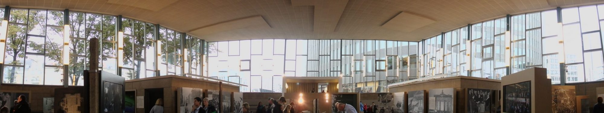 a panoramic view of the Palace of Tears in Berlin