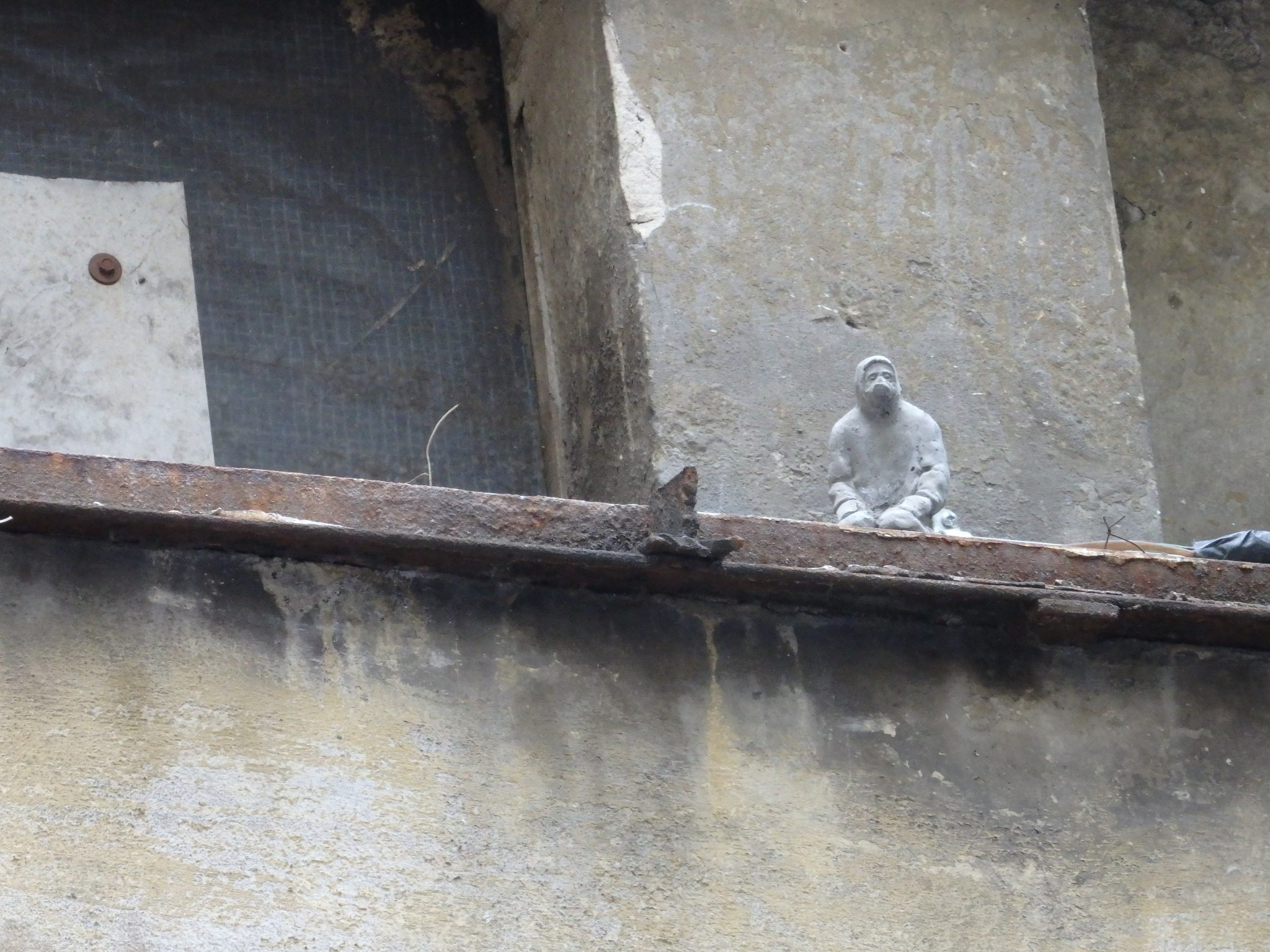 a small figure near Haus Schwarzenberg, Berlin