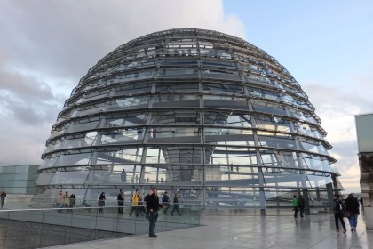 The Reichstag dome as seen from the roof