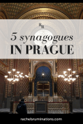 Pinnable image: 5 synagogues in Prague