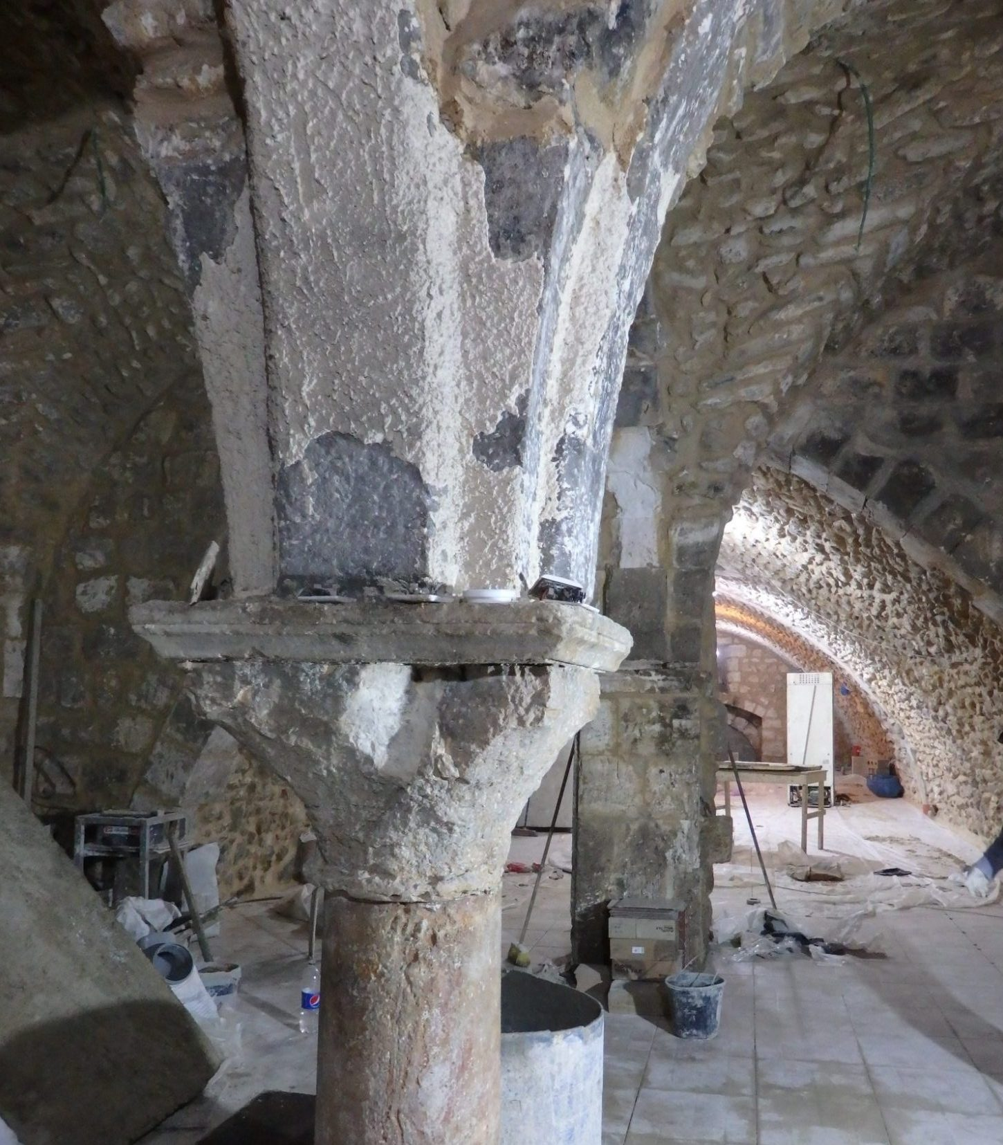 This space was being gutted and renovated to be used as a restaurant in the Muslim Quarter of the Old City of Jerusalem.