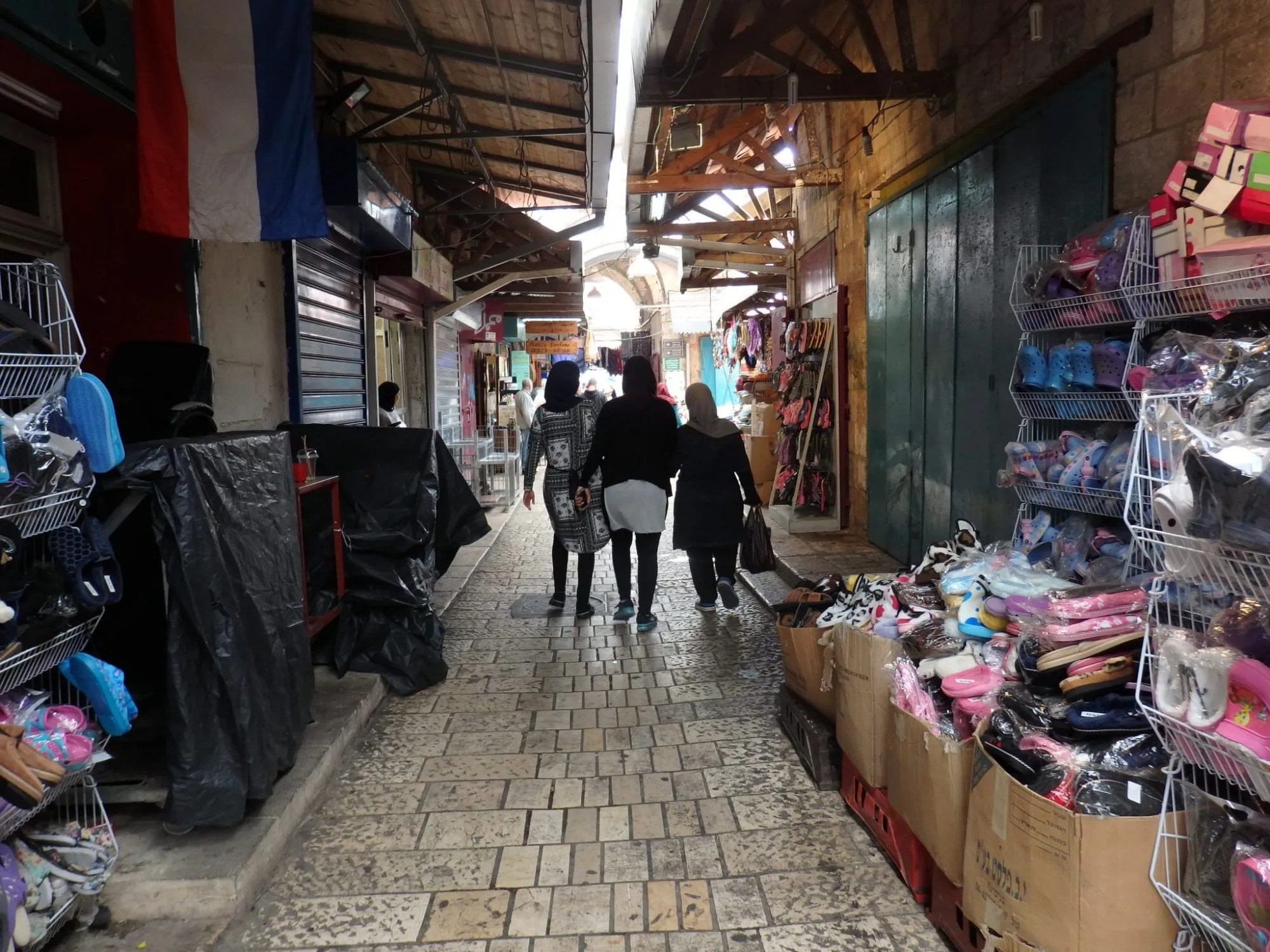 A shopping street in Akko old city