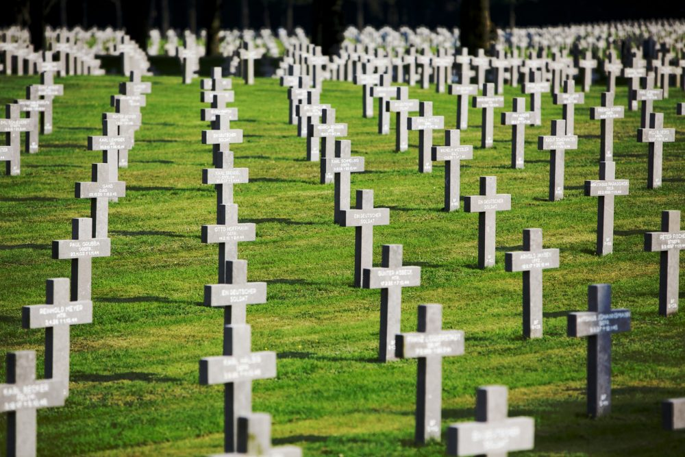 If you travel the Liberation Route Europe, you could stop at Ysselsteyn, in the Dutch province of Limberg: a German World War I and II cemetery. Photo courtesy of Liberation Route Europe.
