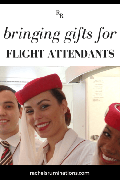 The story of my experiment with bringing gifts for flight attendants.