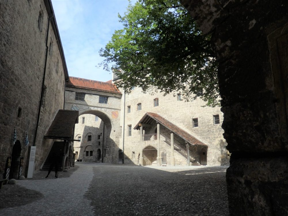 Burghausen Castle inner courtyard