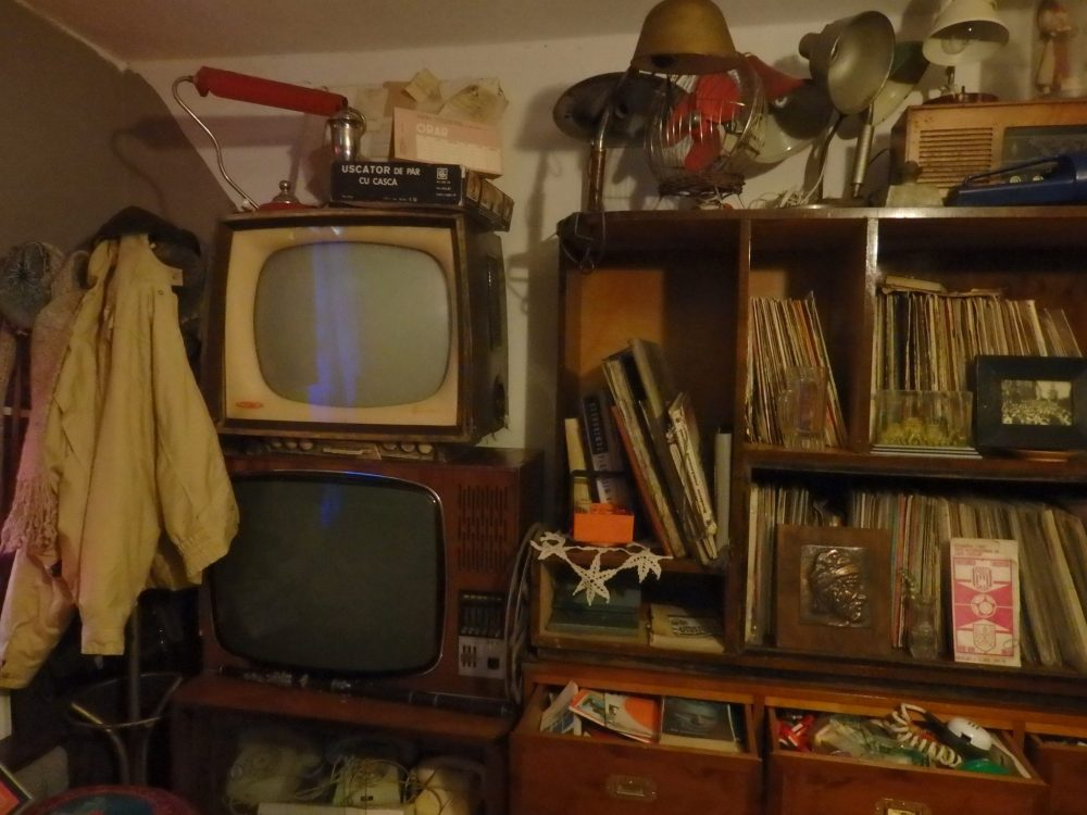 a section of the living room at the Communist Consumers Museum