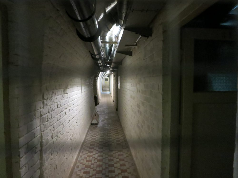 Rather claustrophobic tunnels inside the 10-Z bunker in Brno. Macabre sightseeing in Brno.