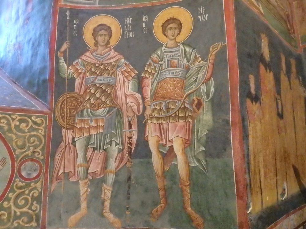 A panel from inside Patrauti church. Look at the detail the painter put into it? Do you happen to know who they are? The Spectacular Painted Churches of Moldavia