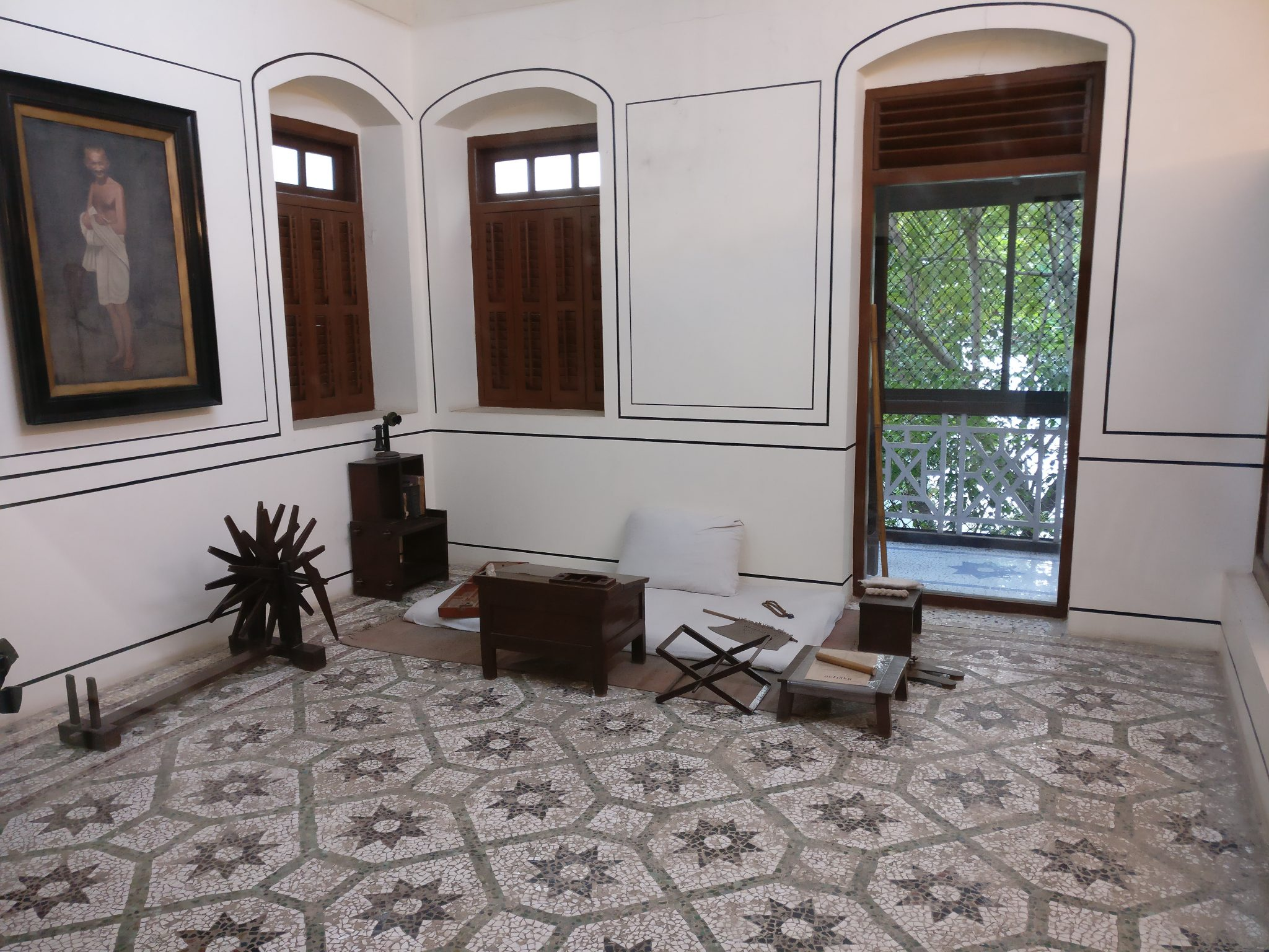 Gandhi's room, in the Gandhi Memorial Museum