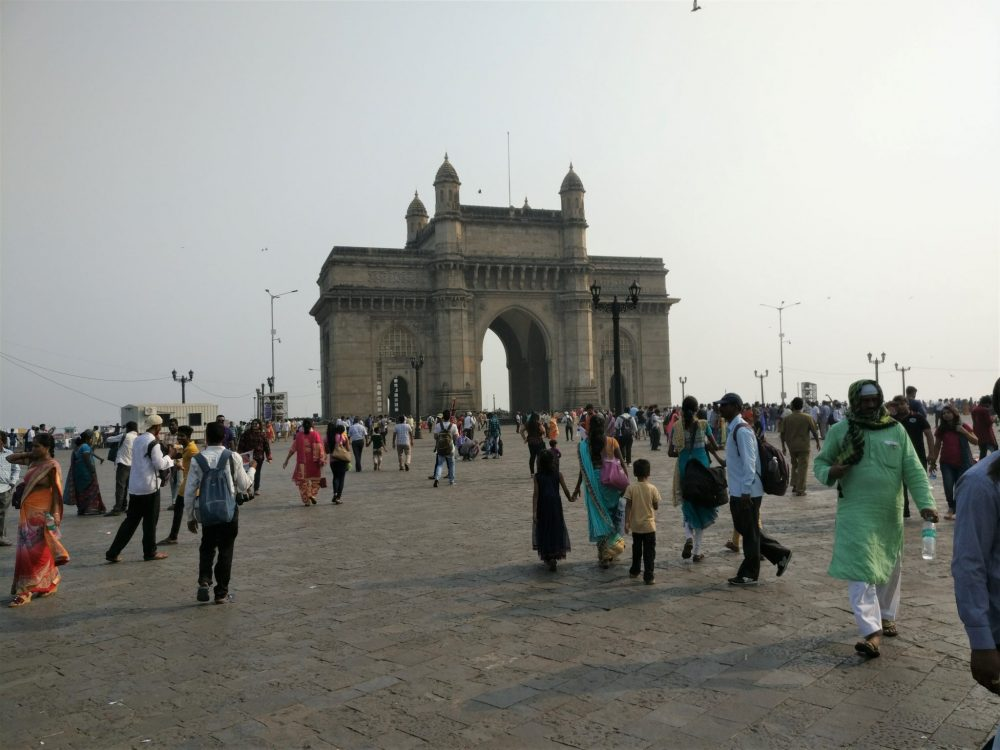The Gateway of India. According to our guide, people from Mumbai never come here; the people in the picture are all from other parts of India, with a sprinkling of foreigners like us.