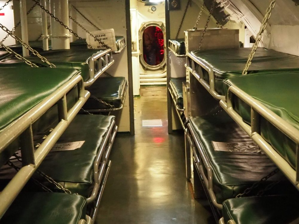 bunks in the USS Pampanito