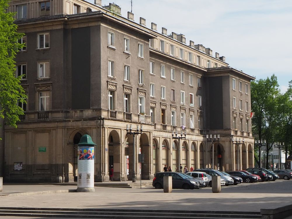 A building in the central 1950s part of Nowa Huta: A Krakow tour with a twist