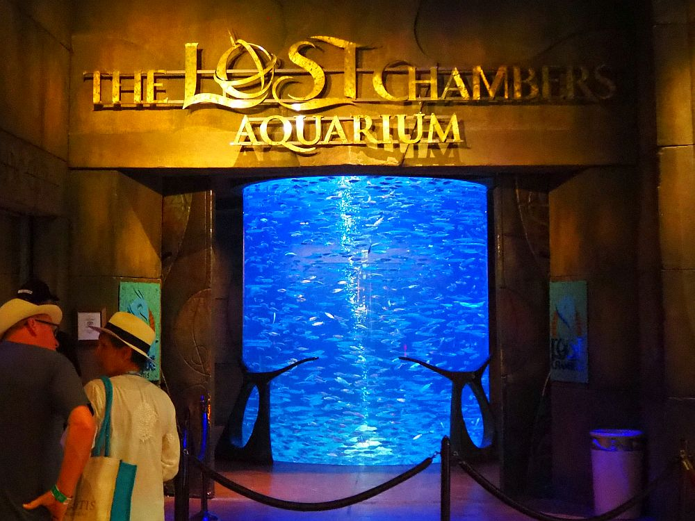"The entrance to The Lost Chambers Aquarium, which might be better named ""Atlantis Aquarium"""