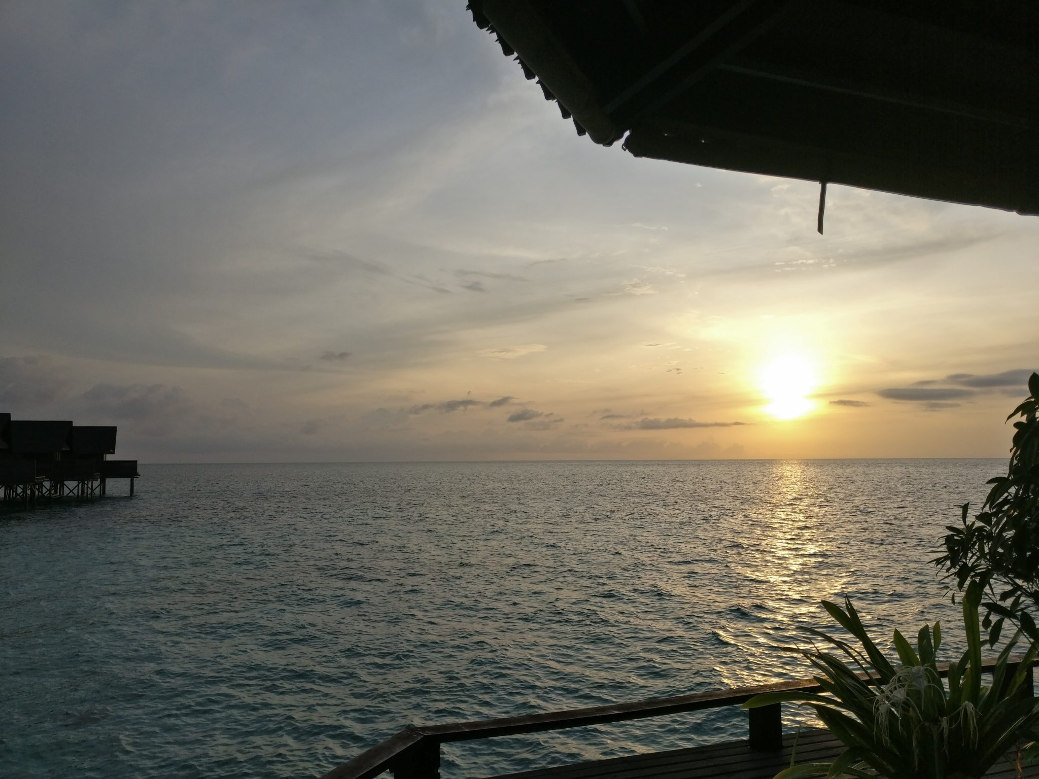 A Lankayan sunset as seen from the main building of Lankayan Island Resort.