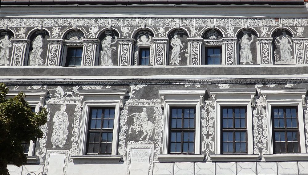 This building was the most ornately decorated one that we saw on our visit to Trebic UNESCO site.