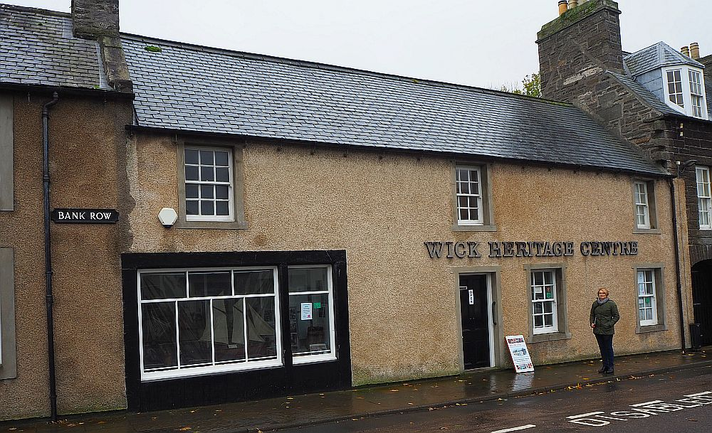 The unassuming entrance to the Wick Heritage Museum.