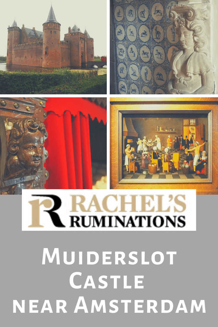 I've seen a lot of castles in my travels, but Muiderslot Castle is a real classic: a drawbridge over a moat and four corner towers, designed for defense. #muiderslot #castle #medievalarchitecture #amsterdam #rachelsruminations via @rachelsruminations