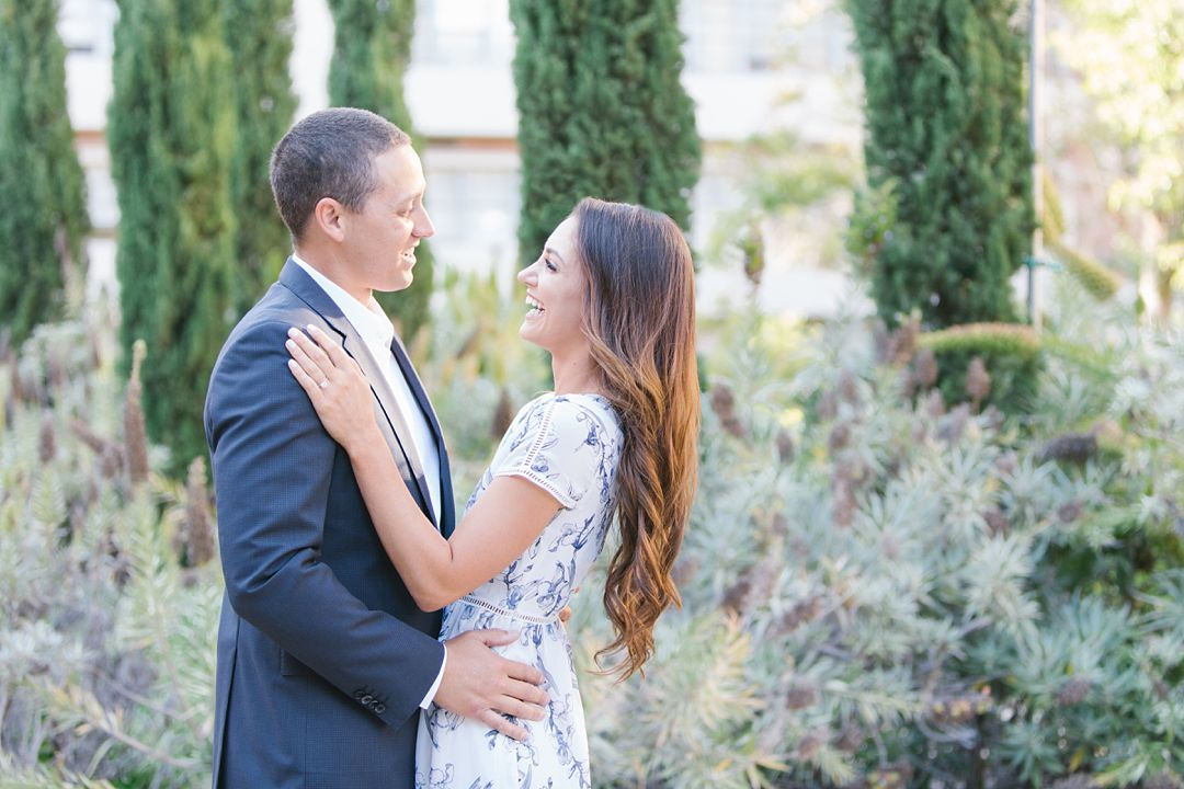 summer engagement photography of couple at UCLA campus