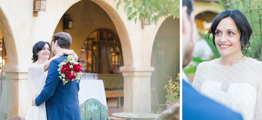couple enjoys a moment at their topanga canyon wedding