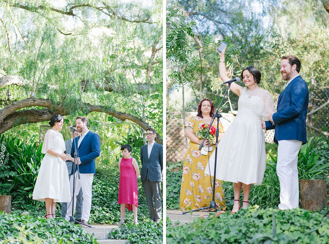 bride and groom full of emotion at their topanga canyon wedding