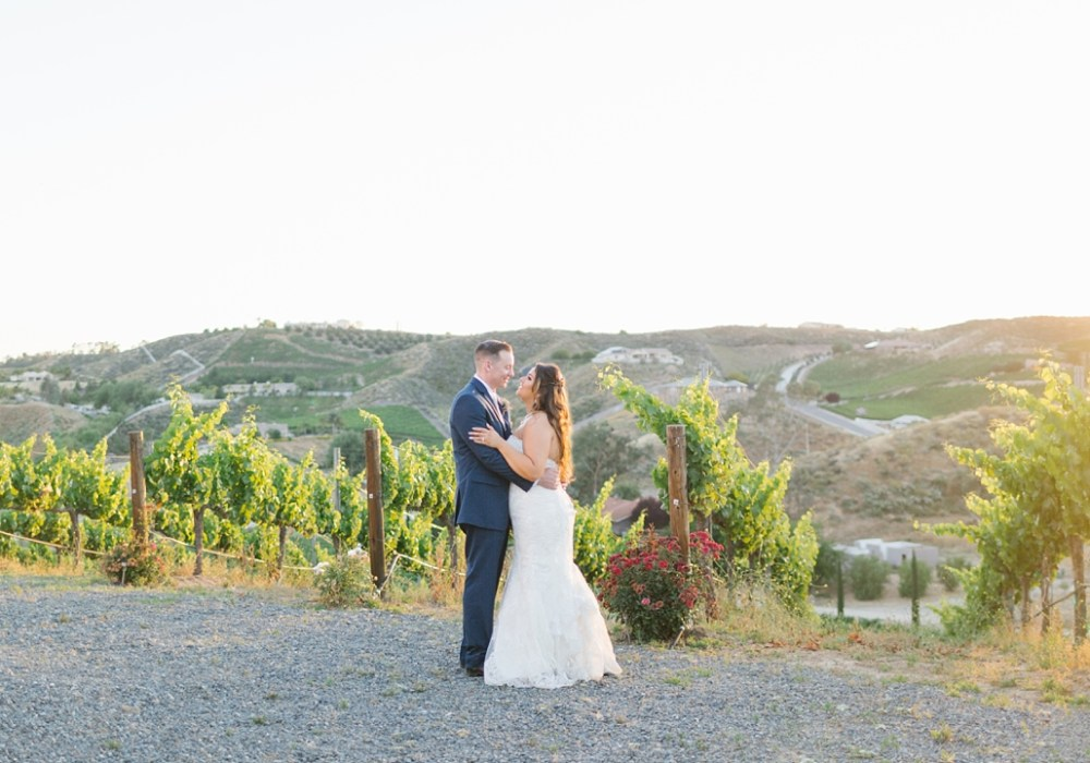 temecula winery wedding sunset photos