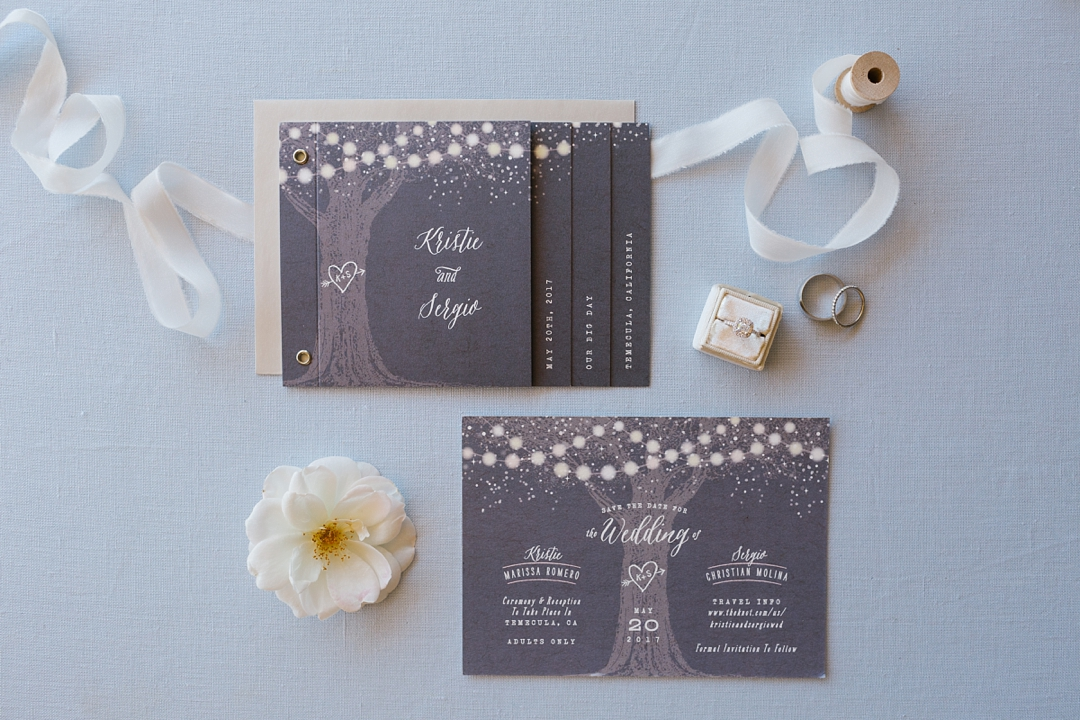 wedding invitation suite for temecula wedding
