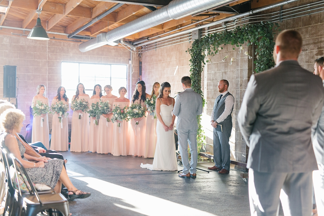 ceremony at smoky hollow studios