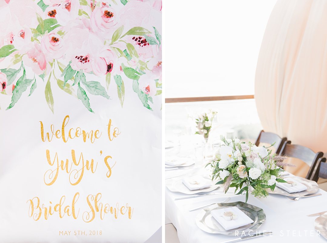 watercolor bridal shower welcome sign