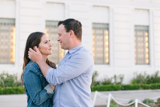 griffith observatory engagement photos