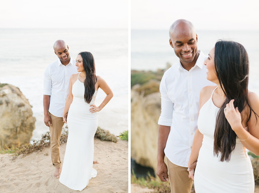 sunset malibu engagement photos el matador state beach