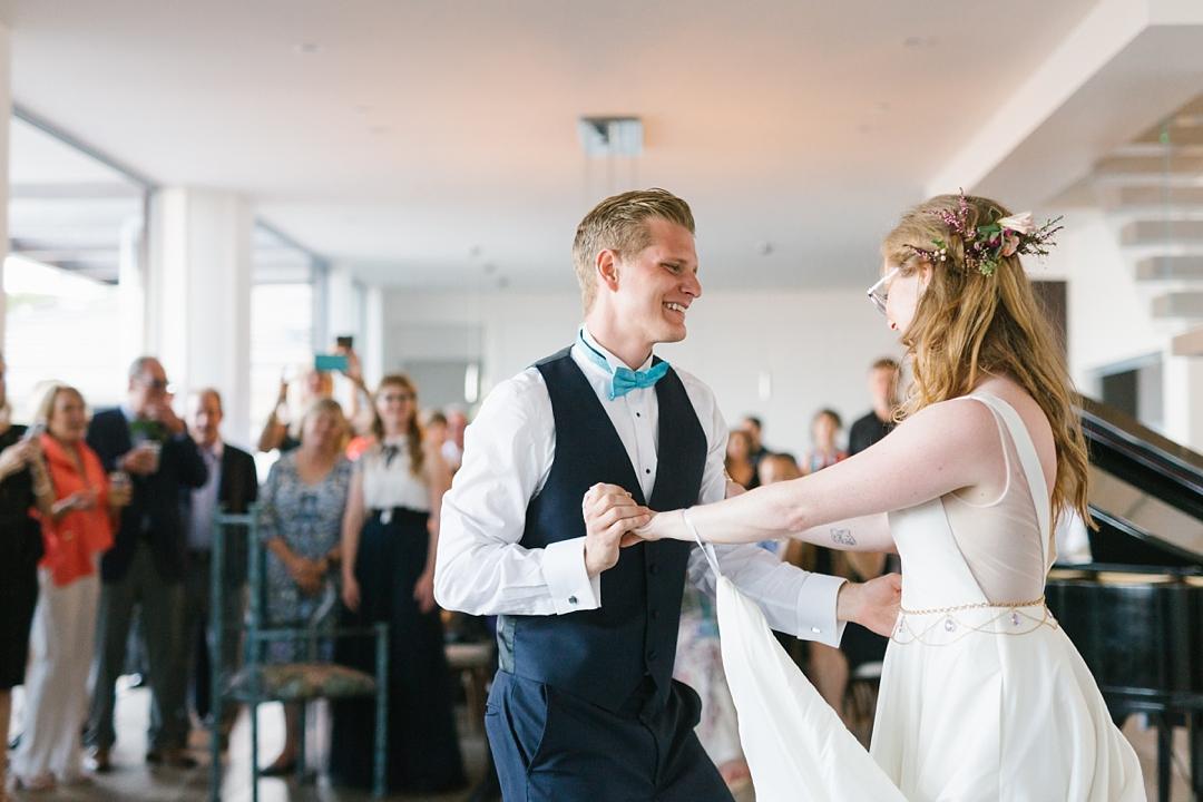 boho palos verdes wedding first dance