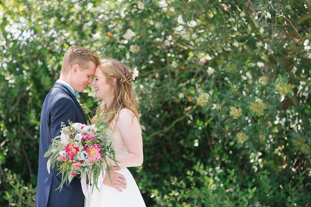 colorful boho wedding bouquet palos verdes wedding