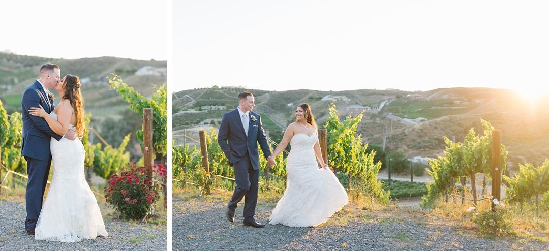 golden hour wedding photos and wedding timeline tips