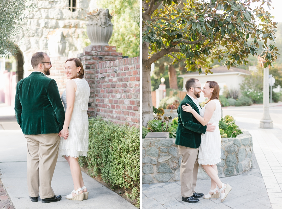 griffith park engagement session rachel and anthony at hollywood two stone gates