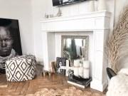 Comment décorer son manteau de cheminée + DIY coffrage télévision