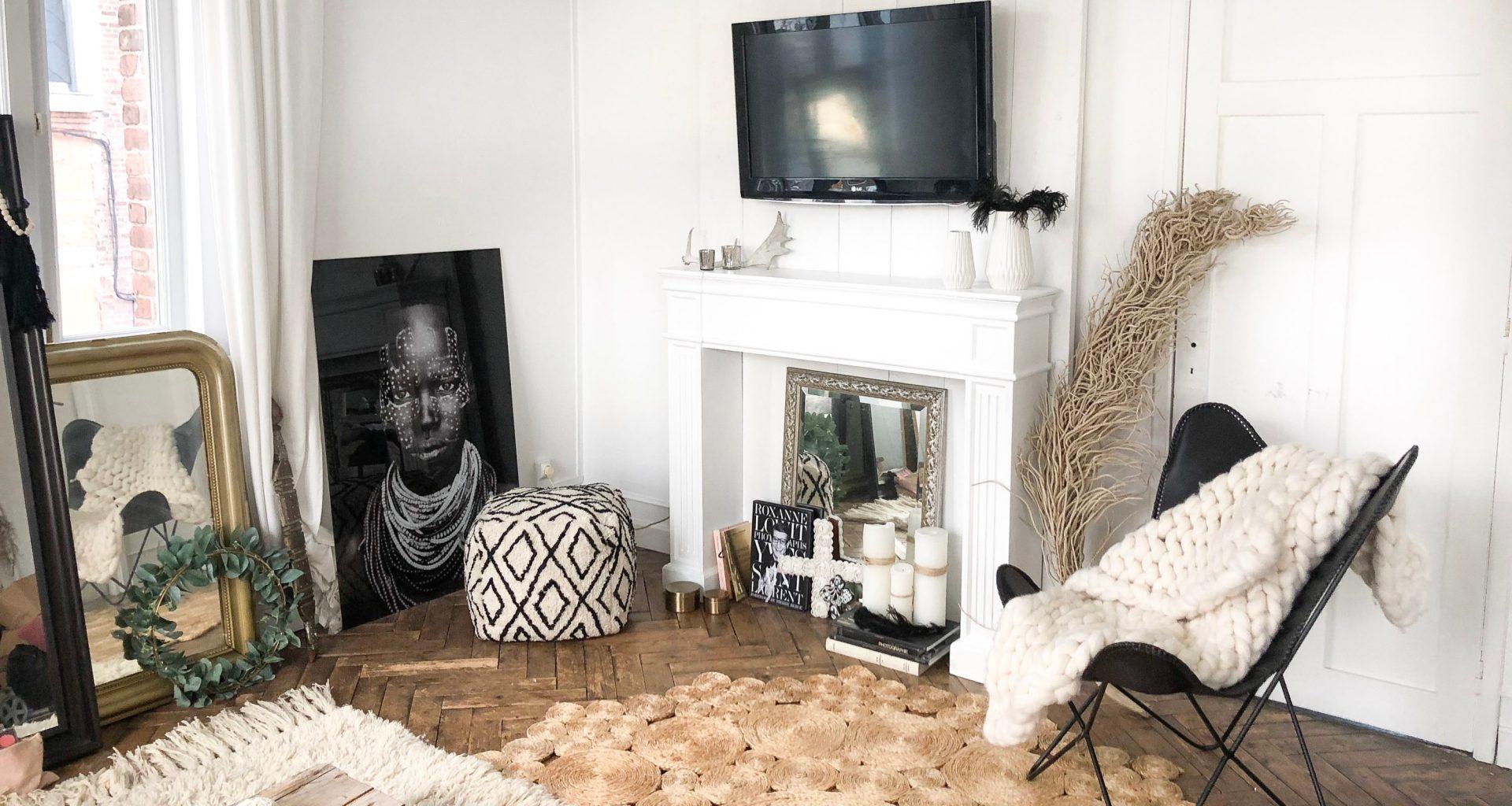 A Quelle Hauteur Mettre Une Tele Au Mur comment décorer son manteau de cheminée + diy coffrage