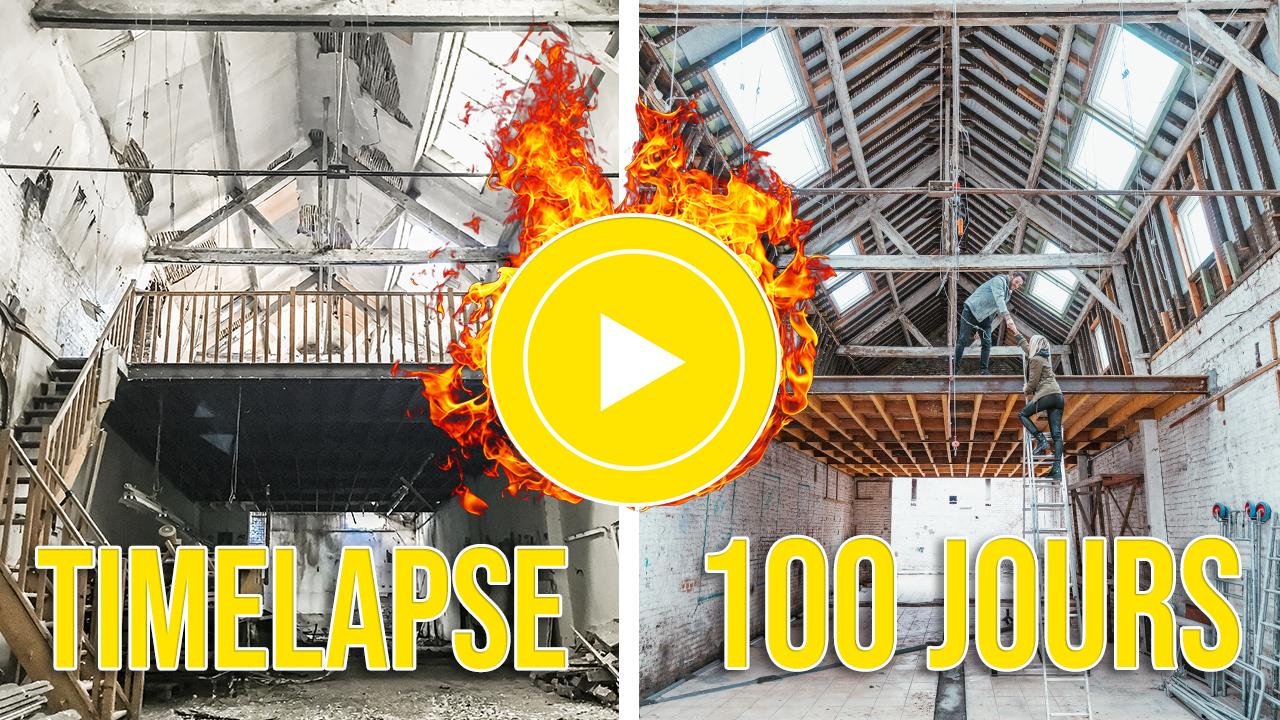 timelapse rénovation 100 jours