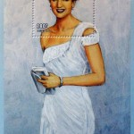 Diana commemmorative stamp sheet