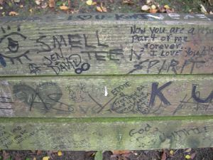 Bench in Viretta Park, tribute to Cobain, wikipedia