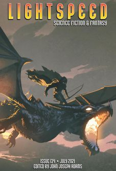 Lightspeed July 2021 Issue 134, dragon with rider