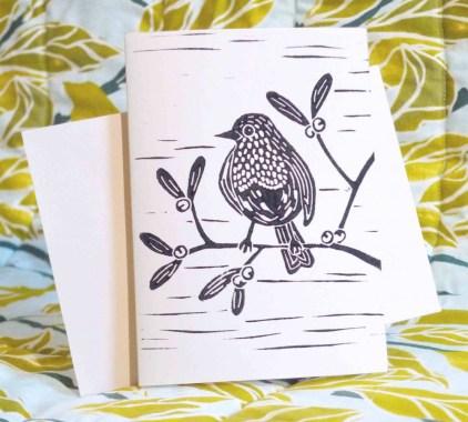 Robin on mistletoe