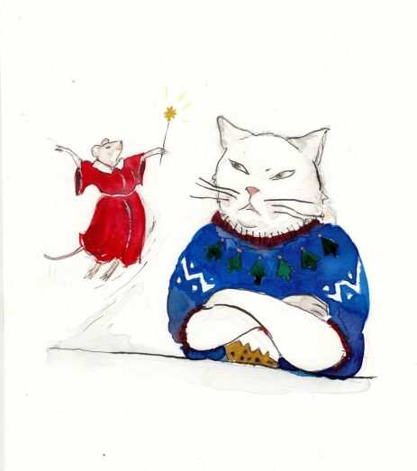 grumpy-cat-and-xmas-mouse--advent-drawing