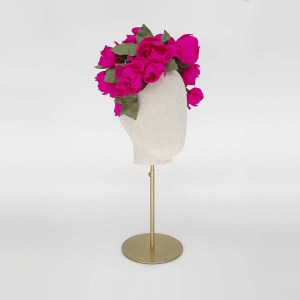 Hot pink roses headdress