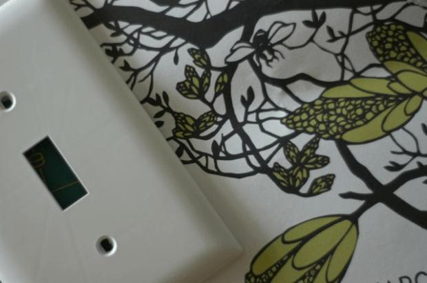 DIY decoupaged switch plates   Clean. www.lusaorganics.typepad.com