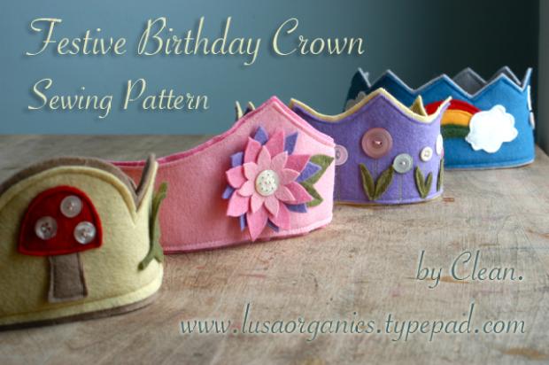 Waldorf Birthday Crown Sewing Pattern   Clean. www.lusaorganics.typeapad.com